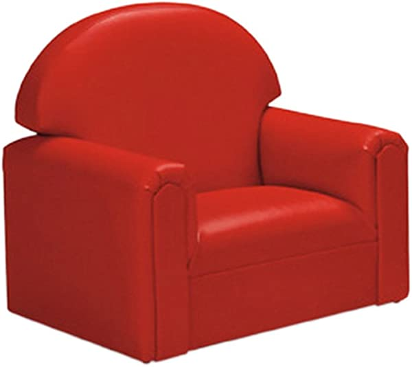 Brand New World Toddler Premium Vinyl Upholstery Chair Red