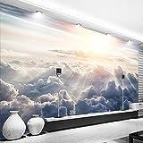 3D Fotomurales Papel pintado Cielo, nube, luz del sol No Tejido Murales Moderna Diseño Póster Salón Dormitorio TV Telón de Fondo Pared Hogar Decoración 300x210 cm