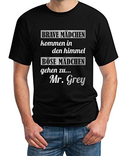 Brave Mädchen Kommen In Den Himmel Böse zu Mr Grey T-Shirt XXXX-Large Schwarz