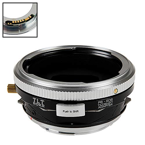 Fotodiox Pro TLT ROKR Tilt/Shift Lens Mount Adapter Compatible with Pentacon 6 (Kiev 60) Lenses on Canon EOS EF and EF-S Cameras - with Gen10 Focus Confirmation Chip