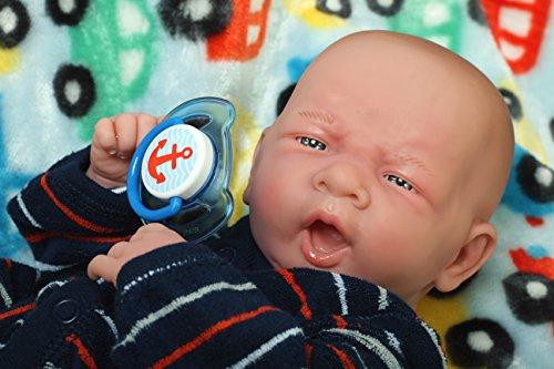 My Angel Baby BOY Ssoooo Cute 14 inches Preemie Life Like Reborn Pacifier Doll + Extras