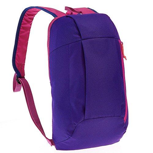 CJWWEI Rucksack wandern große kapazität leichte Mini männer und Frauen bergsteigenbeutel lässig Leben unterhaltungsspiel tragbare kleine Schultasche Tragbarer Rucksack (Color : Blue-Purple)