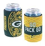 Kolder NFL Football Team Logo Insulated 5mm Neoprene Glued in Bottom Can Holder Cooler 2-Pack Set (Green Bay) Packers Dynamic