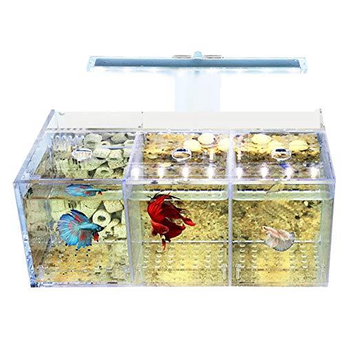 TOOGOO Aquarium LED Acryl Betta Aquarium Set Desktop Licht Wasser Pumpe Filter Triple
