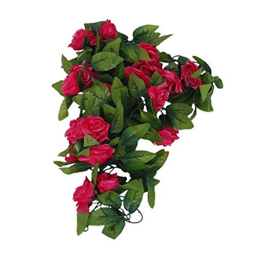 Sconosciuto 2X Artificiale Rose Corona di Fiori di Nozze Decorazione casa Giardino
