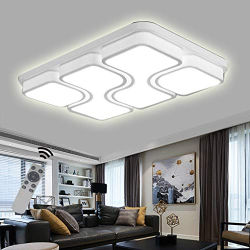 LED Modern Deckenlampe Deckenleuchte Quadrat Energiespar Wohnzimmer Schlafzimmer Korridor Acryl-Schirm Rahmen Flur Lampe Schlafzimmer Küche Energie Sparen Licht Durchbohrte Wandleucht (78W Dimmbar)