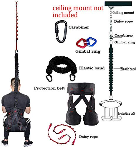 DASKING Upgraded Version Heavy Yoga Bungee Rope Resistance Belt Bungee Workout Gravity Training Tool Equipment for Home Gym Yoga Weight Class 3