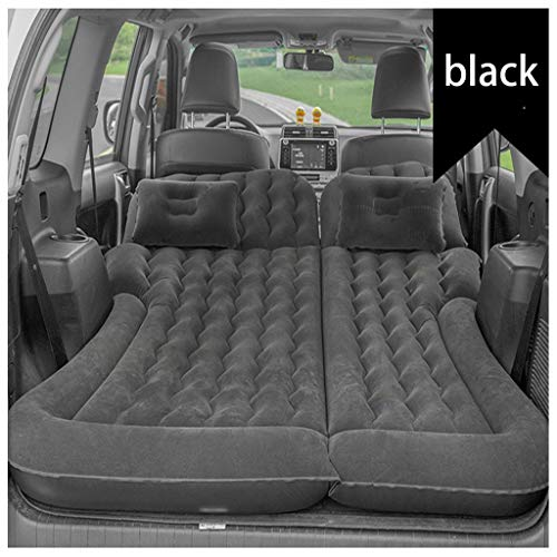 NTWXY SUV Air Mattress for Back Seat Inflatable Car Air Bed with Electric Air Pump Flocking Surface, Sleeping Blow-Up Bed Pad fits SUV, Truck, Minivan/Compact Twin SizeBlack