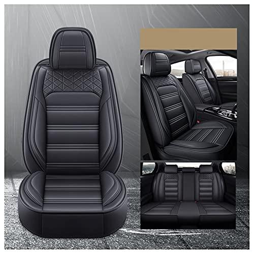 Universal Completo Fundas Asientos Coche Para Jeep Renegade 2019-2021,Delantero Trasero Juego Cubierta Asiento Cuero 5-Asientos Auto Accesorios Interior Decoracion,Negro