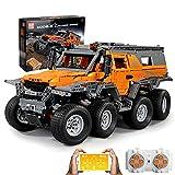 Sungvool Technik Avtoros Shaman 8x8 ATV Offroader Kit de construcción ATV Offroader, aplicación y mando a distancia de 2,4 GHz para camiones todoterreno y 8 motores compatibles con Lego (2578 piezas)