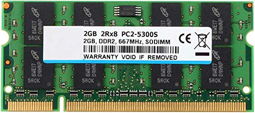 BPX 2GB PC2-5300 2RX8 PC2-5400 DDR2 667MHz CL5 200 Pin 1.8v SODIMM Notebook RAM Non-ECC ungepufferte Laptop-Speichermodul kompatibel mit Intel AMD-System