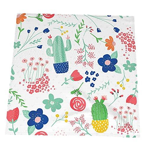 RETRUA Servilletas de papel de cactus, 2 unidades, servilletas de mesa, servilletas de cocina, reutilizables y lavables, decoración de mesa para fiestas de vacaciones, bodas, 50,8 x 50,8 cm