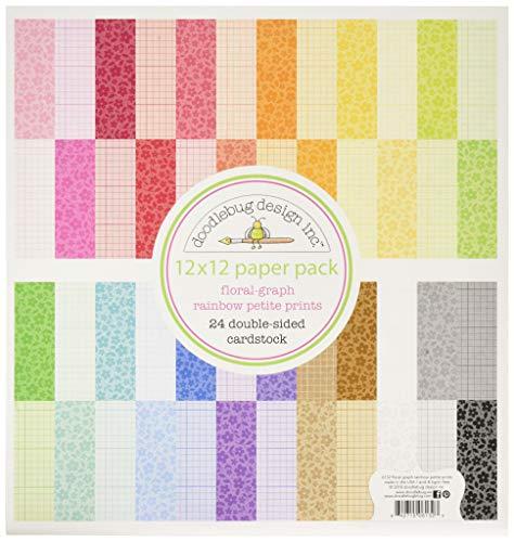 DOODLEBUG PP Papier Packung F/G Rainbow, 12 x 12