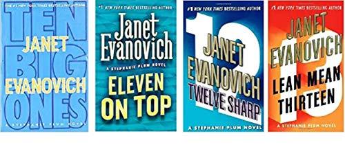 Janet Evanovich - Stephanie Plum Hardcover Novel Series - Ten Big Ones - Eleven on Top - Twelve Sharp - Lean Mean Thirteen - Bundle of 4 Books