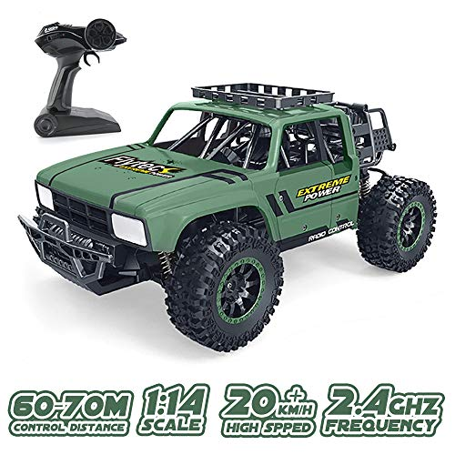 GoolRC Flytec SL-151A RC Car, 1/14 Scale 2.4GHz Radio Remote Control Car Dessert Buggy, 20KM/H High Speed Off-Road Racing Climbing Car RC Toys for Kids (Green)