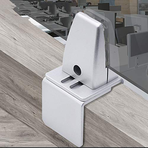 GAYBJ Sneeze-Guard-Stand-Bildschirmhalterungen, Trennwandhalter-Cliphalter, Aluminiumlegierungsglas-Trennwand-Screen-Klemmen, Clip-Klammer für Schreibtischtischtisch,12PCS