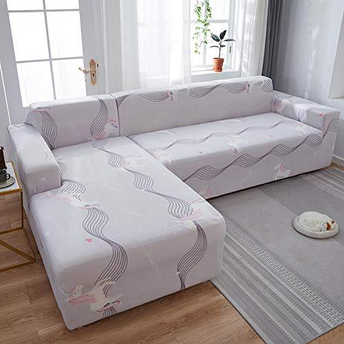 Fsogasilttlv Funda de Sofa Elasticas 1 Plaza, Fundas de sofá elásticas Estampadas elásticas para sofá, Funda para sofá seccional de Esquina J