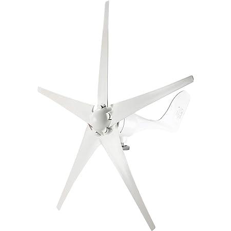 YaeMarine Wind Turbine Generator, 400W 12V Wind Turbine Businesses 5 Blade Wind Controller Turbine Generator kit for Home/Camping, White, Black, Blue, Red, Green (White)