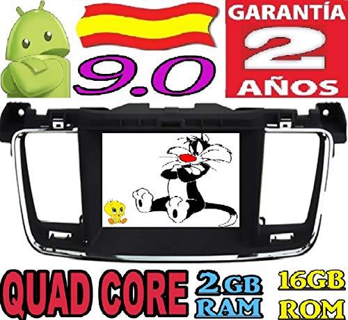 Peugeot 508 Android 9.0 Quad Core 2GB RAM 16 GB ROM GPS Radio Coche DVD AUTORADIO WiFi 3g 4g navi navegador AÑO: 2011 2012 2013 2014 2015 2016 2017