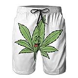 XinT Naughty Weed Men's Shorts Swim Trunks Beach Shorts for...