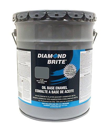 Diamond Brite Paint 31150 5-Gallon Oil Base All Purpose Enamel Paint Battleship Grey
