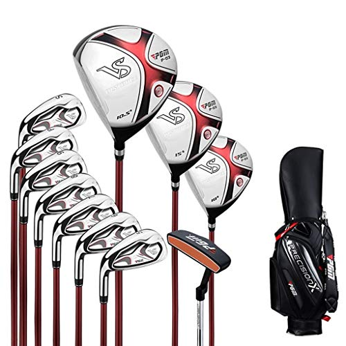 WYSTAO Golf Set Men Golf Club Komplett-Set von 11 linkshändigen Golftaschen R-Klasse Carbon-Welle Ultimative (Size : Carbon Shaft)