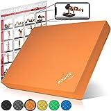 POWRX - Balance Board Deluxe in gommapiuma + PDF Workout (Arancione)