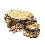 Kathson Turtles - Plataforma para reptiles escondiendo cueva de tortuga de resina, para acuario decorativo para pequeños lagartos, ranas, serpientes