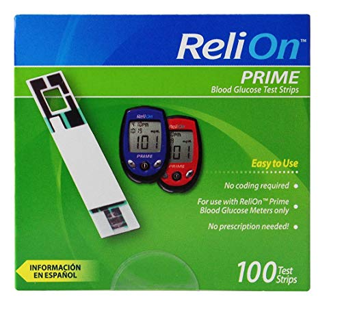 buy  ReliOn Prime Blood Glucose Test Strips, 100 Count, ... Blood Test Strips