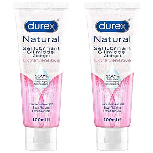Durex Play – Lubricante natural con aloe vera – 2 unidades – 100 ml