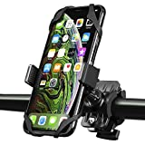 INSTEN Bike Mount Phone Holder, Universal Bicycle Motorcycle MTB Rack Handlebars Cradle w Secure Grip 360 Rotatable Rubber Strap Compatible with iPhone 11 12 Mini Pro Max Xs Xr SE 2020 8 Plus, Black