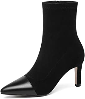 BalaMasa Womens Dance-Ballroom Spikes Stilettos Solid Urethane Boots ABM13627