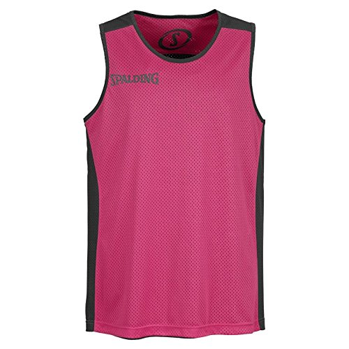 Spalding - Camisa de baloncesto, color negro / rosa, talla XL