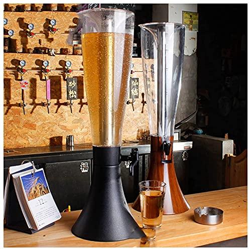 YBSY Dispensador de Torre de Cerveza de 4L / Torre de enfriamiento de Mesa/dispensador de Bebidas con cubeta de Hielo de Acero Inoxidable extraíble para Bar Restaurante Buffet, Negro