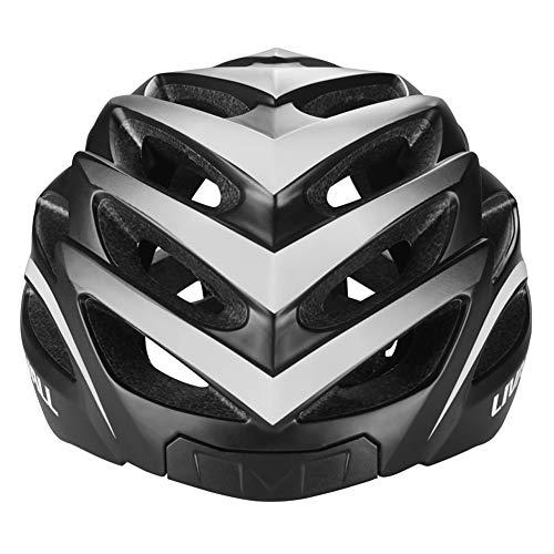 LIVALL BH62 Smart Bling Bike Helmet with Lights LED on Back,Built-in Windbreak Mic,G-Sensor,Bluetooth Speaker,with Bling Jet Controller Cycling Helmet (Black/White)
