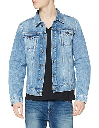 Tommy Hilfiger Trucker Jacket-Rgd Chaqueta, Azul (Lecce Indigo 911), Small para Hombre