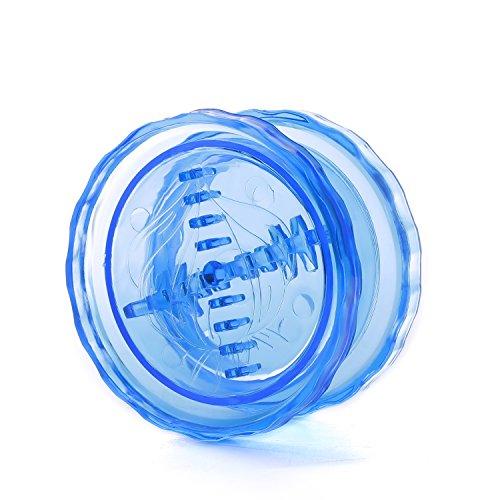 ニンニク粉砕機ツイスターミンサーハンドプレス機ジンジャースクイザースライサー鋏、ニンニクキッチンツール(青)