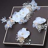 tocados boda,flores pelo,Flor seca, peinetas para el cabello blanco, conjuntos...