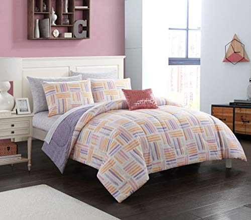 pop shop Laila Watercolor Bed in a Bag, Twin, Purple