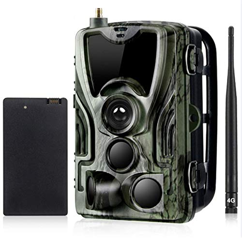 KAUTO Cámara de Caza 4G MMS con batería de Litio de 5000 Mah Cámara de Infrarrojos 1080P 16MP, Leds IR Invisibles, visión Nocturna de 65 pies, IP65 a Prueba de Agua, Velocidad de Disparo 0.3S