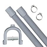 1.5m Manguera de desagüe extendida de, manguera de desagüe retráctil, que se puede utilizar para el kit de extensión de la manguera de desagüe de la lavadora/secadora/lavavajillas