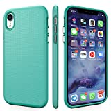CellEver Compatible with iPhone XR Case, Dual Guard Protective Shock-Absorbing Scratch-Resistant Rugged Drop Protection Cover for iPhone XR 6.1-Inch - Teal