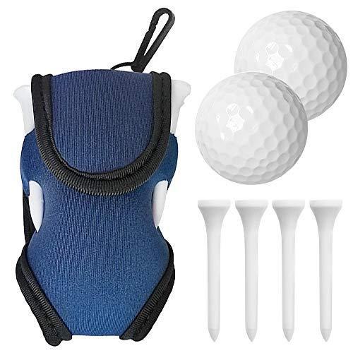 Saco de suporte para bola de golfe e t-shirt Adaskala Saco de transporte de golfe com 2 bolas e 4 camisas