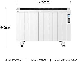 LKK-YSZWJ WiFi Inteligente Vertical Radiadores Electrico,Convector Calefactor Baño Pared 2000W,Pantalla LED Panel Termostato,con Programable Temporizador,Bajo Consumo,Radiador (Size : 2000W)