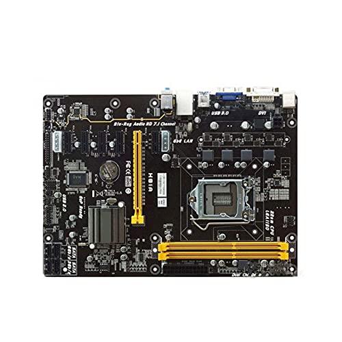 SYFANG Placa Base Fit for BIOSTAR H81A 1150 Intel H81 1150 DDR3 16GB DDR3 H81 Pc Placa Base de computadora