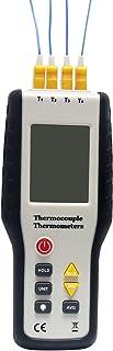 Signstek データーロガー - TC41、4チャンネル Kタイプ熱電対温度計センサー 200~1372°C