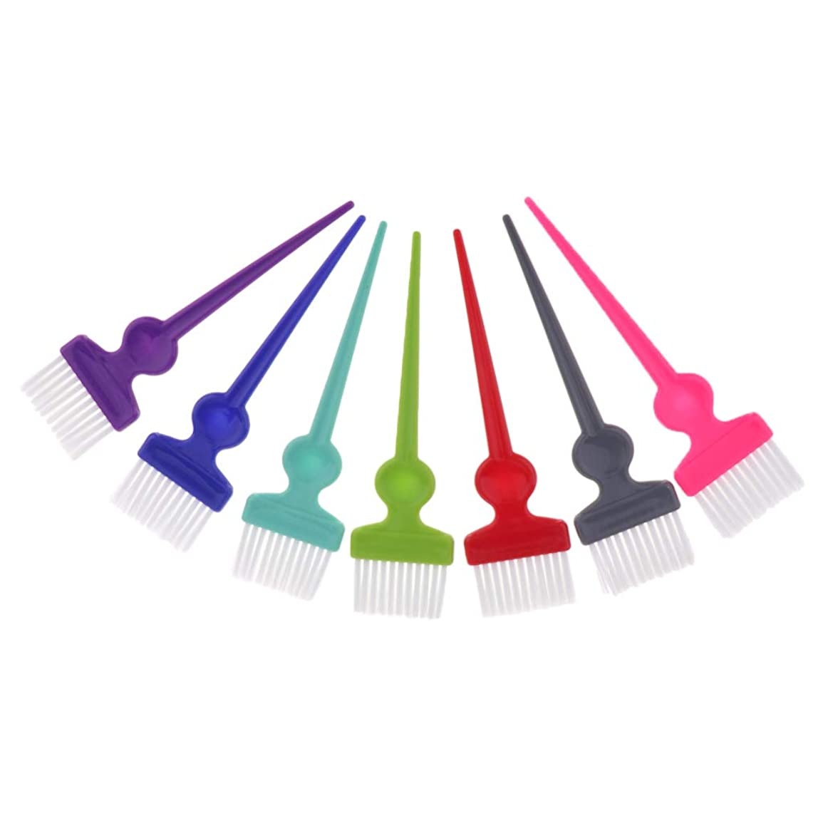 赤外線広まった証拠CUTICATE ヘアダイブラシ ヘアカラーブラシ 染毛ブラシ サロン 理容 理髪 髪着色ツール カラフル 7本セット