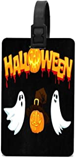 HOOSUNFlagrbfa Halloween October Pumpkin Luggage Tag PVC Business Card Holder for Name Address ID Label Travel