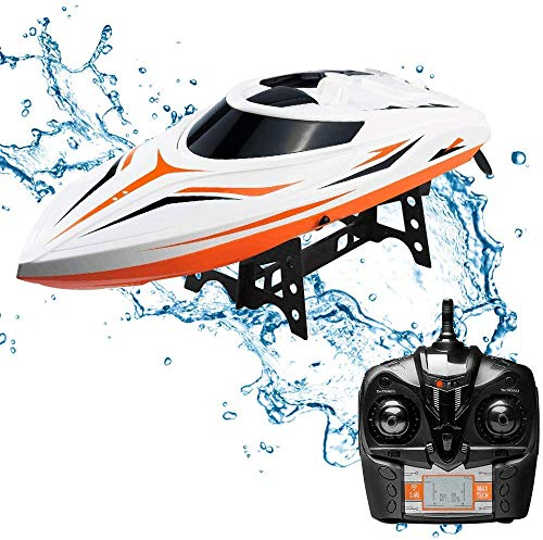 WomToy SGOTA RC Boat, 2.4GHz High Speed Remote Control Boats for Lake/Pool/Pond, Electric RC Racing Boats for Adults & Kids