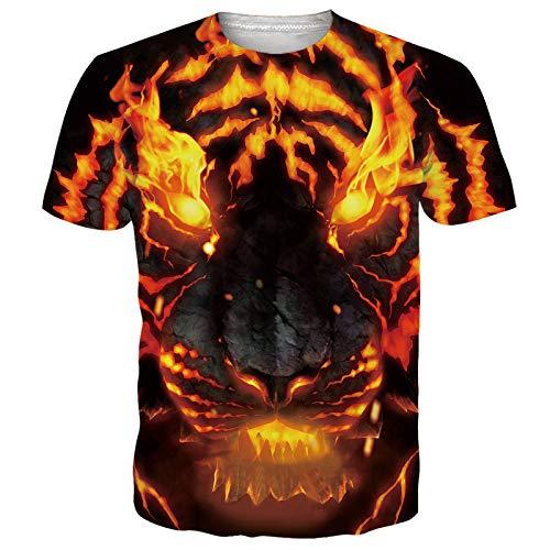 RAISEVERN Unisex Fresco Colorido 3D diseñado Personalizado T Camisas Camisetas Ropa de Verano